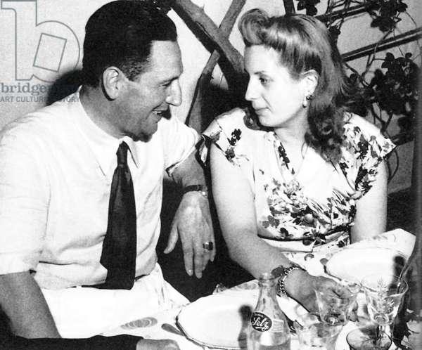 Juan Domingo Peron with his wife Eva (Evita), 1950