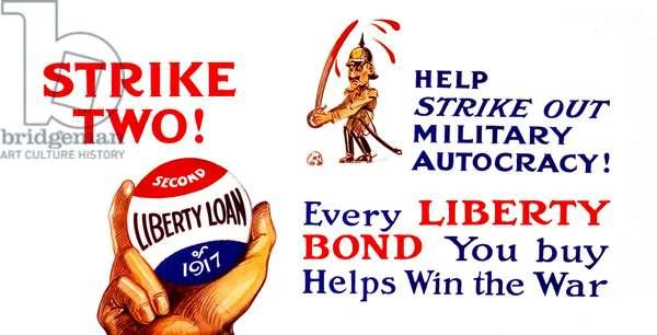 World War One Liberty Bond poster.