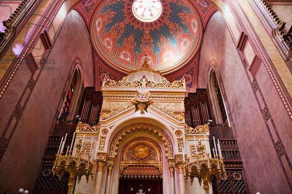 Torah Ark of the Great Synagogue on Dohany Street, Budapest, Hungary (photo)