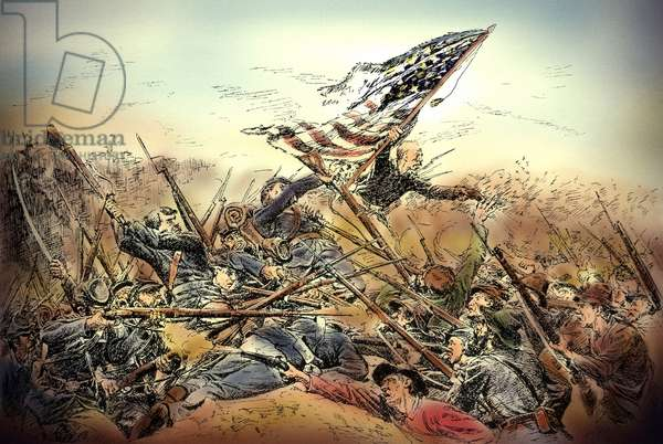 American Civil War-Hand to hand fighting at Spotsylvania