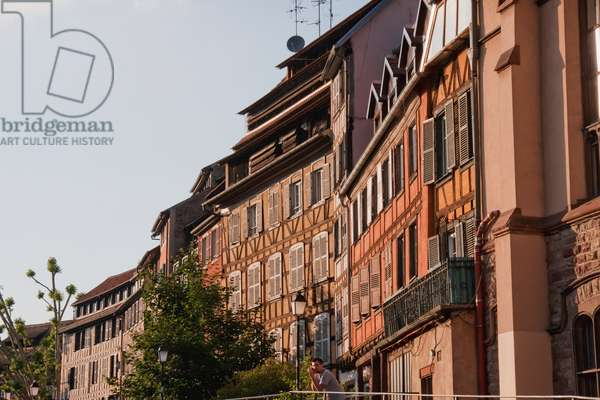 Half-Timbered Houses Along the Ill River in the Little France, Strasbourg, France (photo)