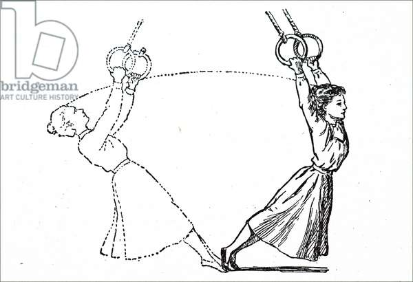 A young female gymnast