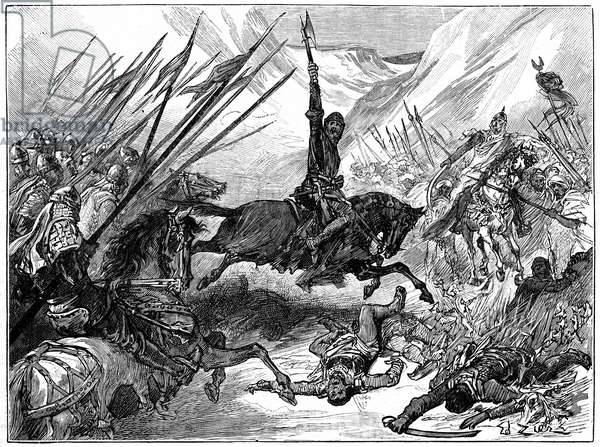 Richard I, Coeur de Lion, (1157-1199) at the Battle of Arsuf, 1191.
