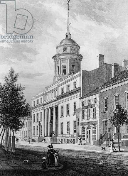 The Merchant's Exchange : The Merchant's Exchange, New York City, circa 1830s ©Encyclopaedia Britannica/UIG/Leemage