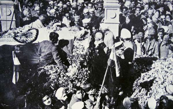 Funeral of Mahatma Gandhi following his assassination 1948