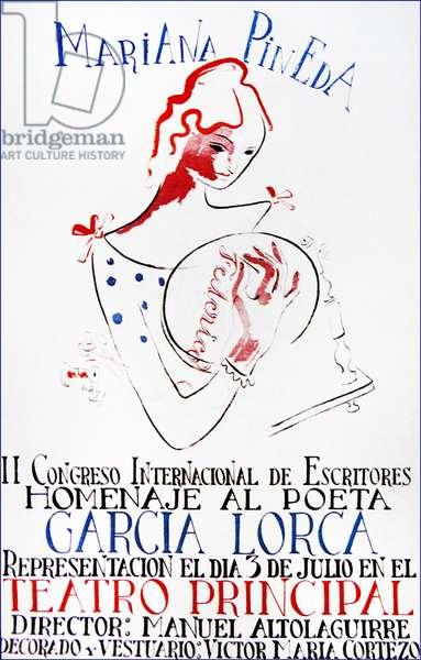 Tribute performance during the Spanish Civil War of 'Mariana Pineda'