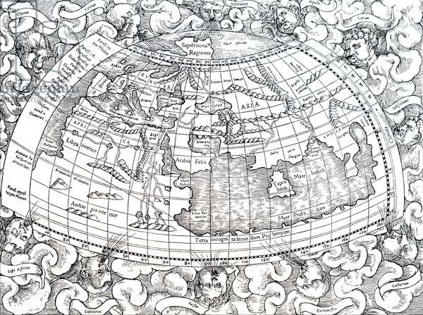 Ptolemy of Alexandria's map of the then known world.