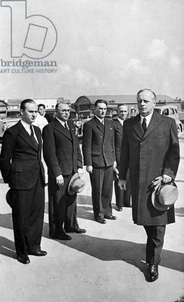 German Minister for Foreign Affairs, Joachim Von Ribbentrop, Arrives at the Central Airport in Moscow for the Signing of the Treaty of Non-Aggression Between Germany and the Union of Soviet Socialist Republics on August 23, 1939.