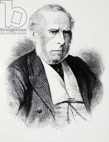 Engraving of Charles Locock, 1875 (engraving)