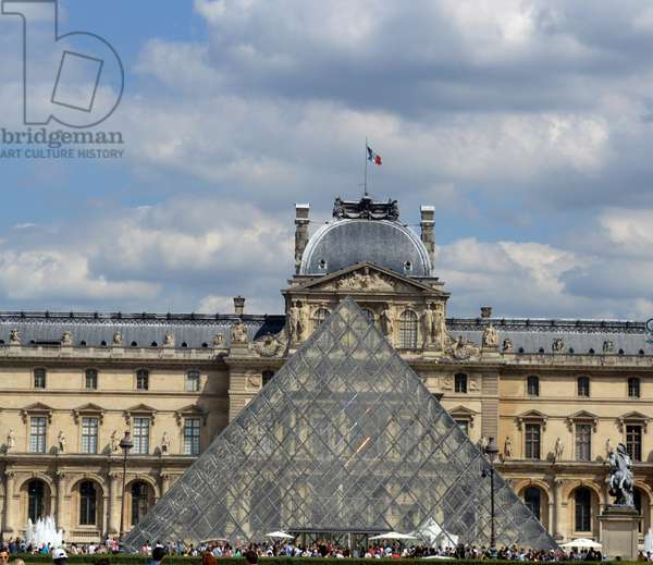 The Louvre with Pyramid.