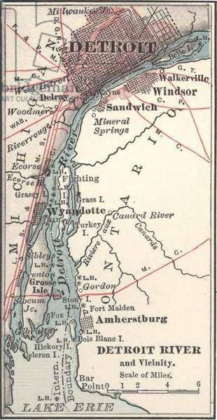 Map of Detroit River