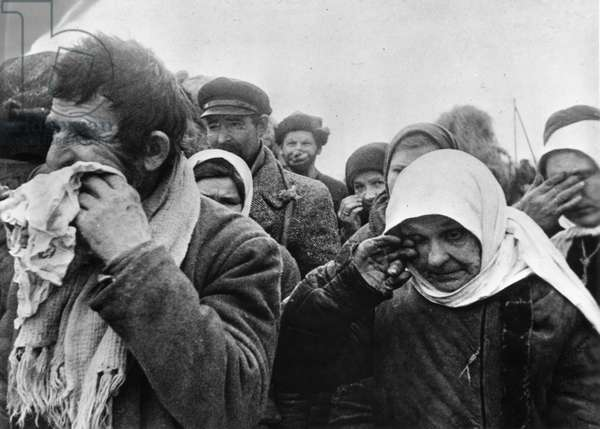 Soviet People Who Were Held in Captivity in Germany and Forced to Work as Civilian Slaves Returning to Russia after their Liberation, World War 2.
