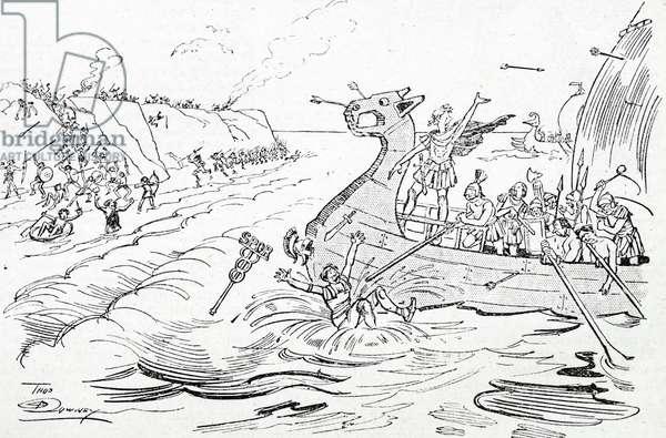Julius Caesar invades Britain