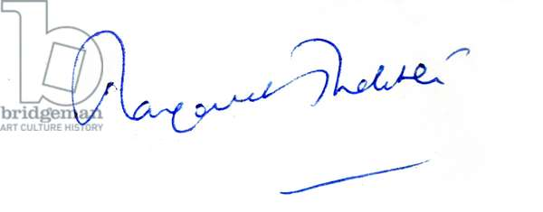 Signature of Margaret Thatcher, 1965