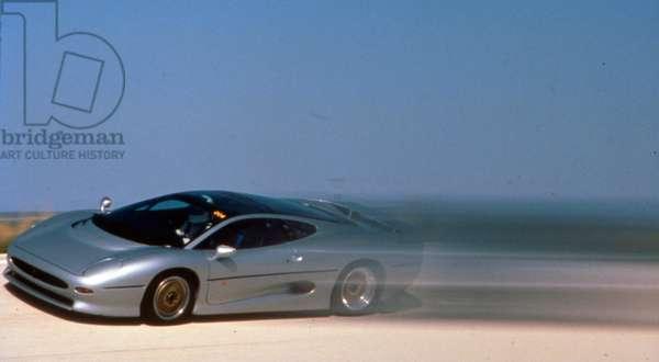 The Jaguar XJ220, two-seat sports car