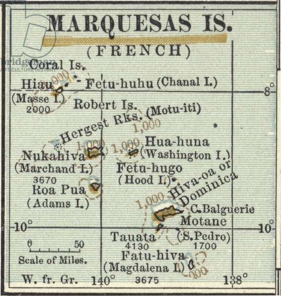Map of Marquesas Islands