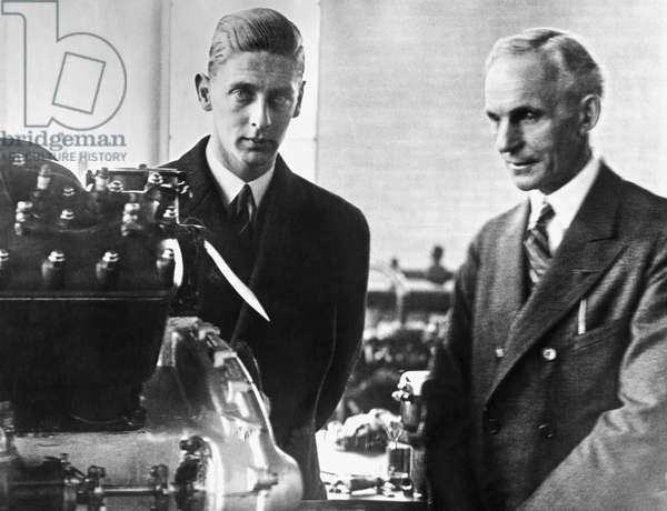 Henry Ford & Prince Nicholas (b/w photo)