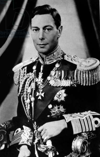 George VI pictured before his coronation