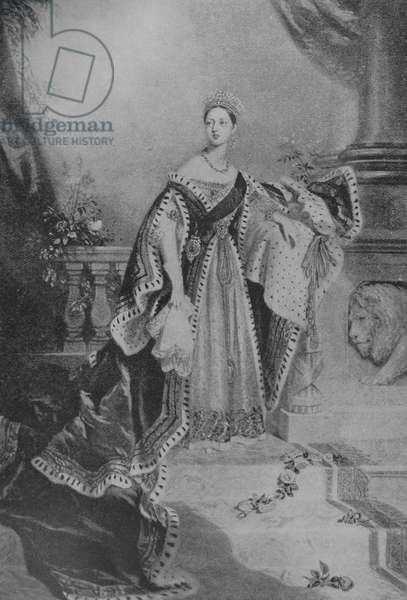 Queen Victoria in her Coronation Roses