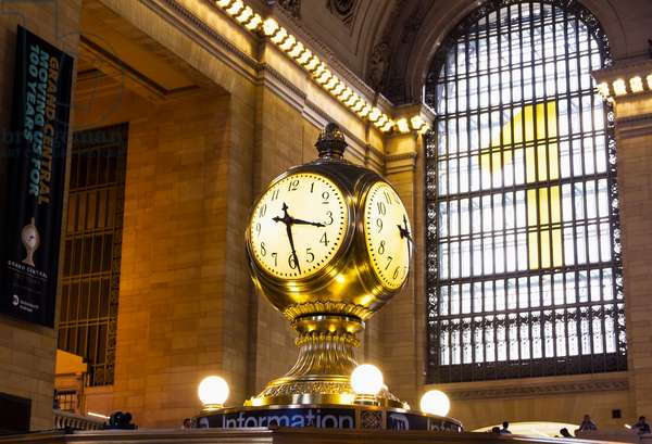 Clock on the Main Concourse of Grand Central Terminal (Grand Central Station), New York City, New York, United States (photo)