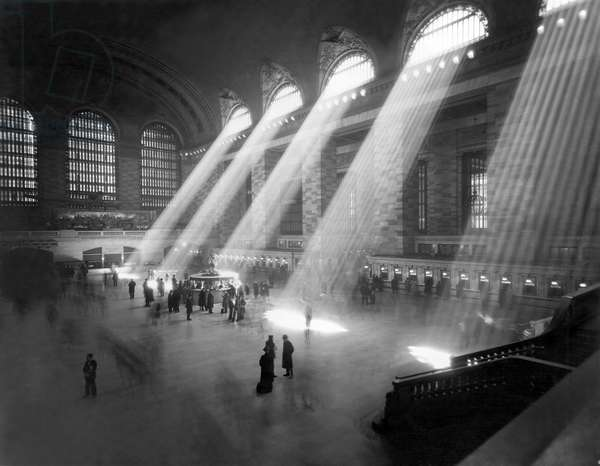 Grand Central Station Sunbeams (b/w photo)