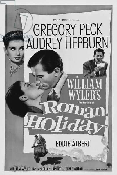 Poster for 'Roman Holiday', 1953 (lithograph)