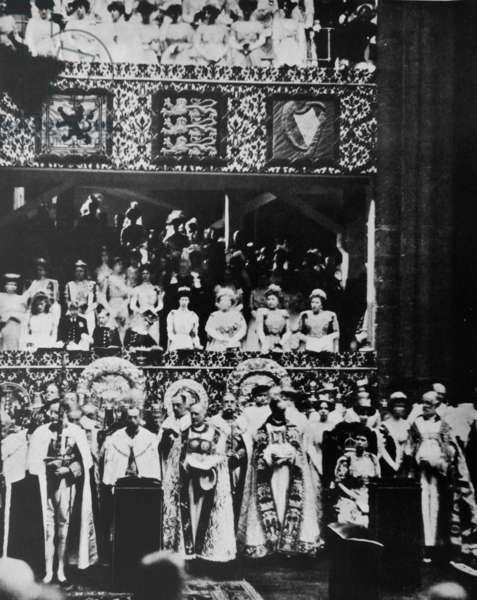King George VI during his Coronation, 1937