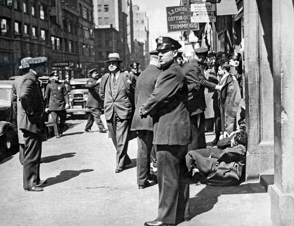 Garment Workers Attacked, 1933 (b/w photo)