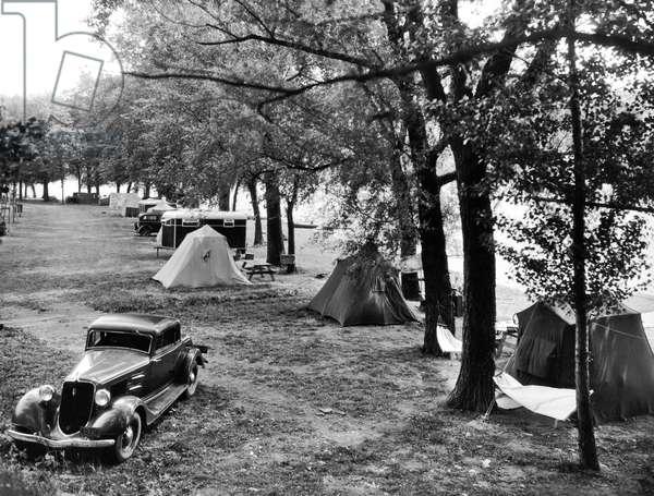 Finger Lakes Camping, Keuka Lake, New York, c.1931 (b/w photo)