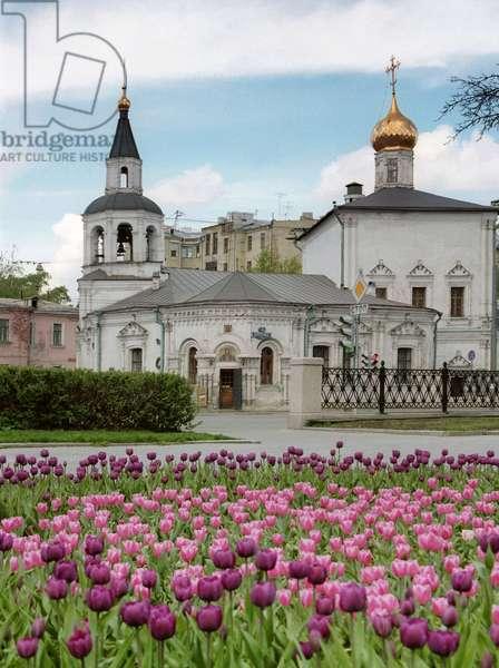 Sretensky Monastery In Moscow : Sretensky monastery on Sretensky Boulevard in central Moscow, Russia, 15/07/08 ©ITAR-TASS/UIG/Leemage