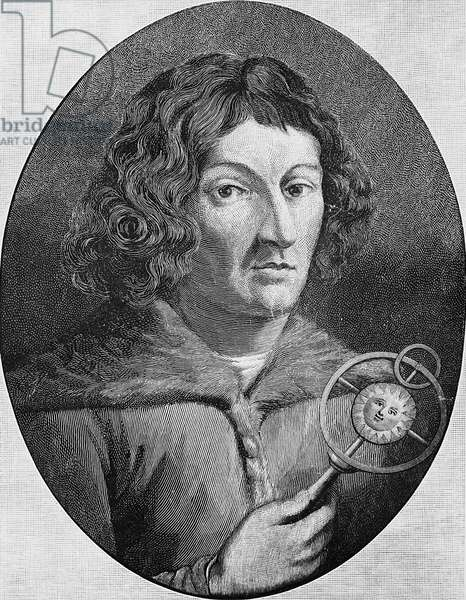 Copernicus, astronomer (b/w photo)