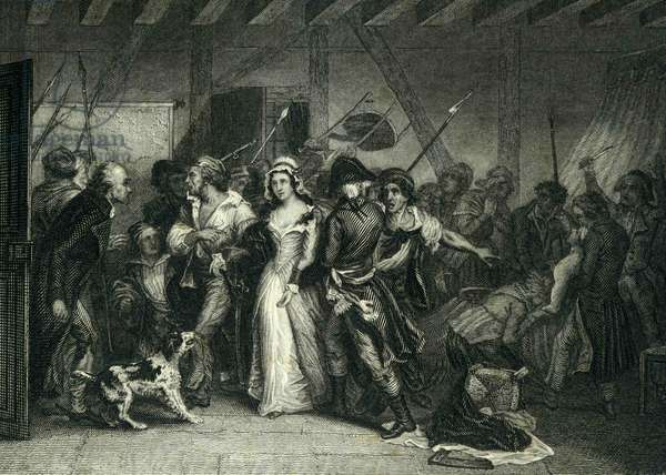 Charlotte Corday being led away to prison.