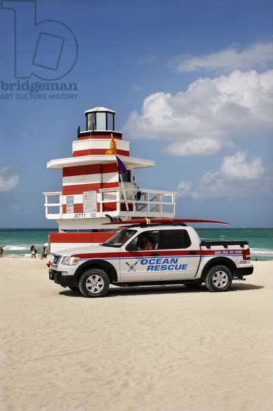 Rescue Vehicle at Lifeguard Station, Miami (photo)