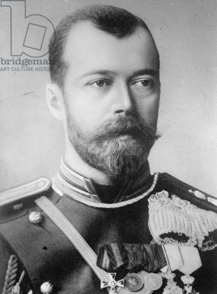 Emperor Nicholas the II, 1900 (b/w photo)