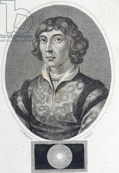 Polish Astronomer Nicholas Copernicus, 1810 (engraving)