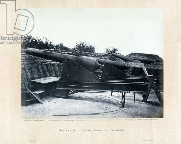 American Civil War cannon in a military post