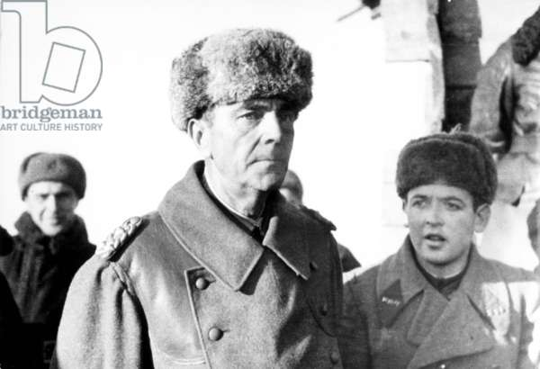 Nazi General Field-Marshal Von Paulus Taken Prisoner after He Surrendered at the End of the Battle of Stalingrad on February 2, 1943, is Escorted by Soviet Interpreter L, Bezymensky Across the Village of Zavarygino Outside Stalingrad.
