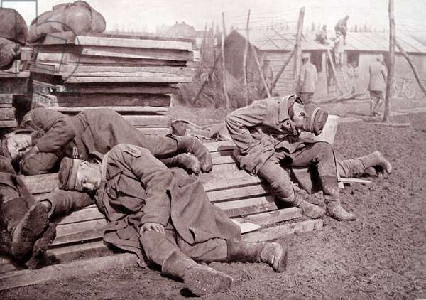 Exhausted German prisoners of war, 1917