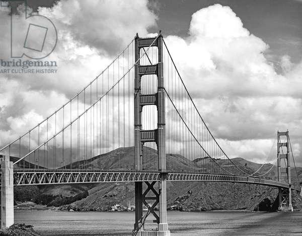 Golden Gate Bridge, San Francisco, California, c.1957  (b/w photo)