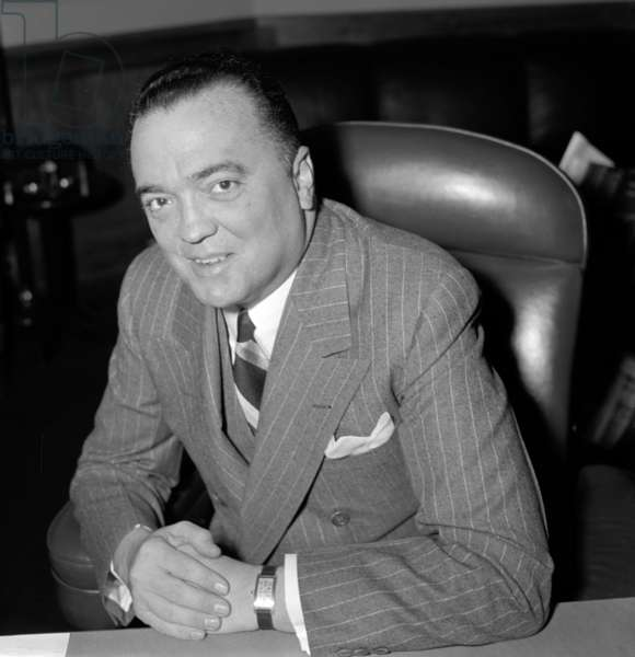 19400101 photo of J. Edgar. Hoover 1895-1972. Director of the FBI (Federal Bureau of Investigation), from 1924-1972.