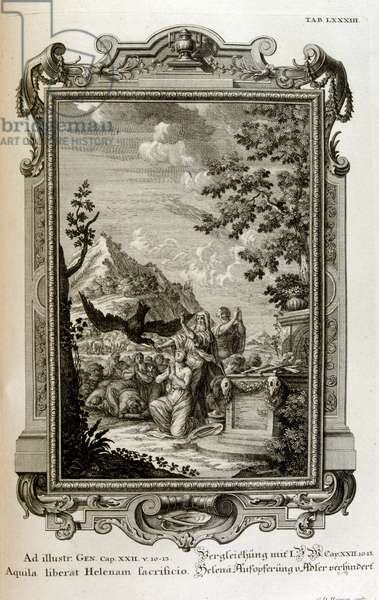 The Fable of Helen of troy, 18th century (engraving)