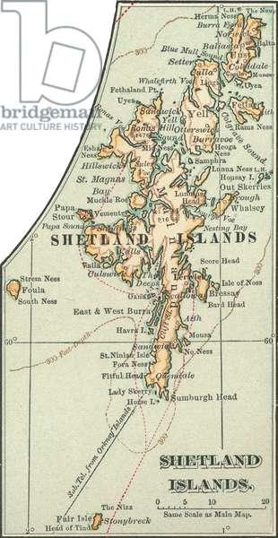 Map of the Shetland Islands