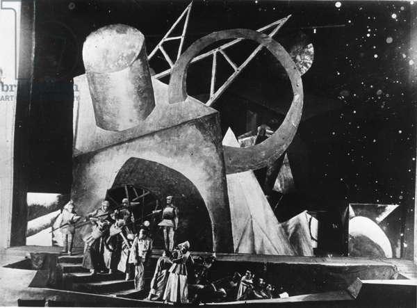 Les Soirs' by Emile Verhaeren, Staged by V, Meyerhold and Bebutov at the First Rsfsr Theatre, Art Director: V, Dmitriev, Premiered November 7, 1920, USSR.
