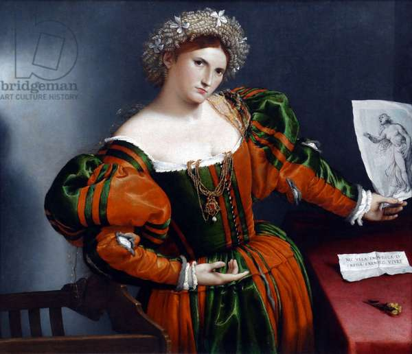 Portrait of a Woman inspired by Lucretia' by Lorenzo Lotto