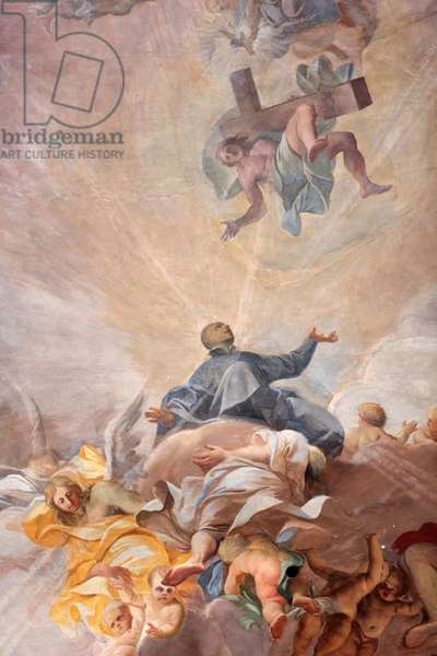 Apotheosis of St, Ignatius of Loyola and the allegory of the missionary work of the Jesuits, 1685