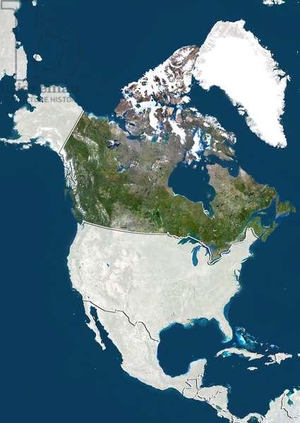 Canada, Satellite Image