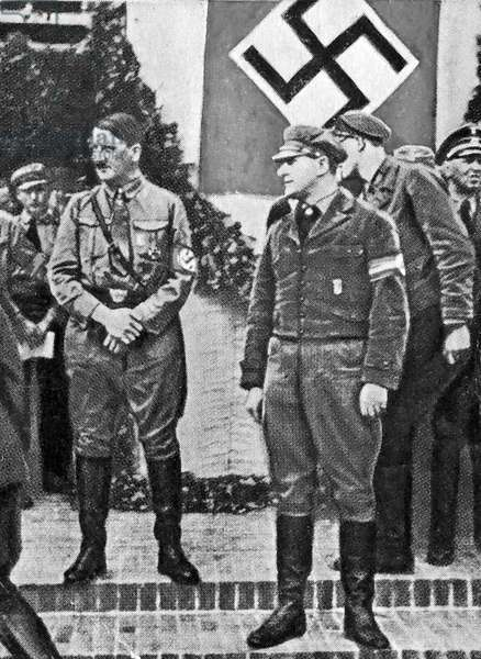 Hitler attending national youth day in potsdam 1933
