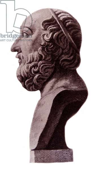 Bust of Plato a philosopher and mathematician in Classical Greece
