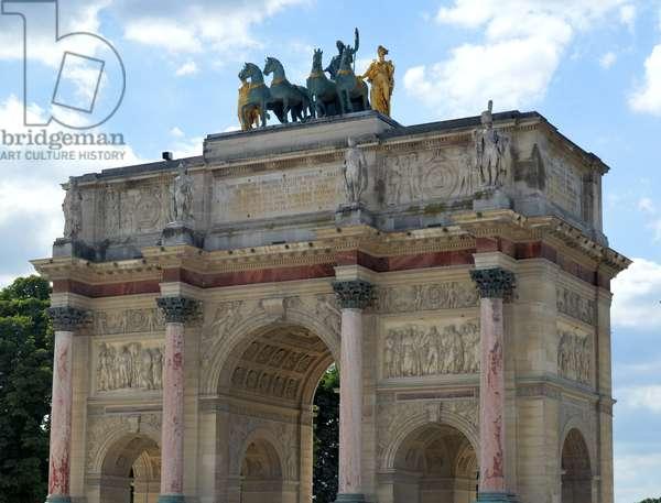 The Arc de Triomphe du Carrousel, triumphal arch in Paris, 1808