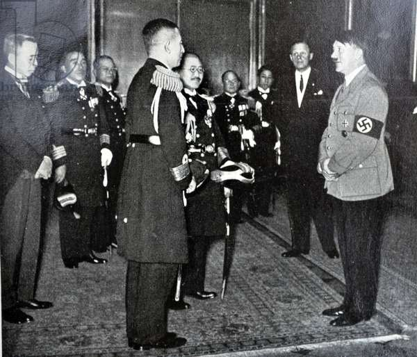 Adolf Hitler with Japanese military delegation in Berlin, 1934guard in 1934
